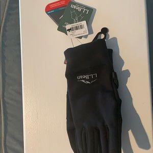 ll bean performance gloves black